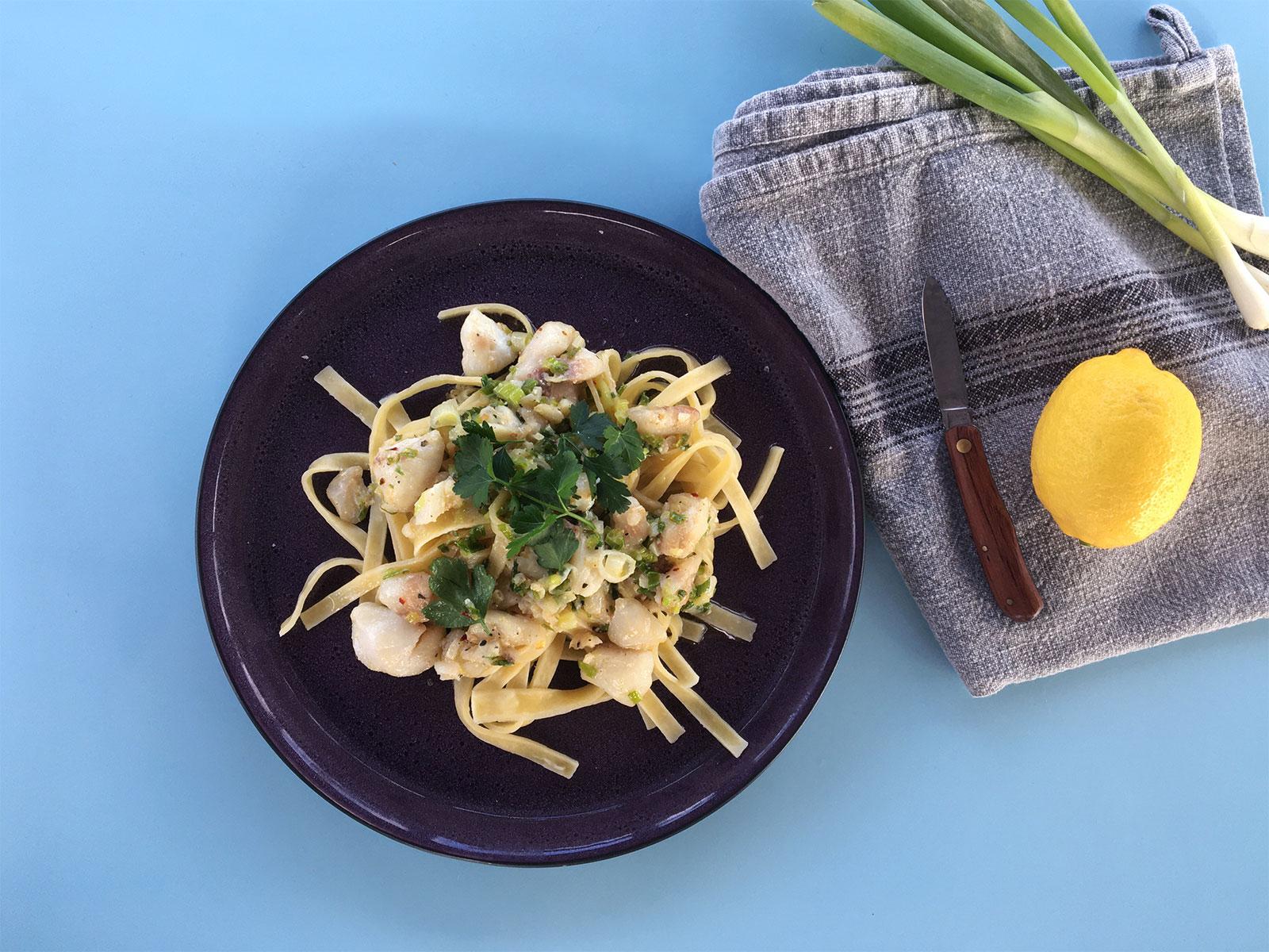 torskekæber frisk pasta fiske kæber